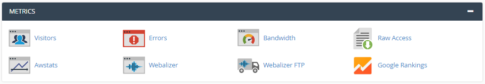 cPanel Metrics Section