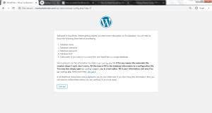 Manually Installing WordPress