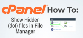 How to Show Hidden (dot) files in File Manager