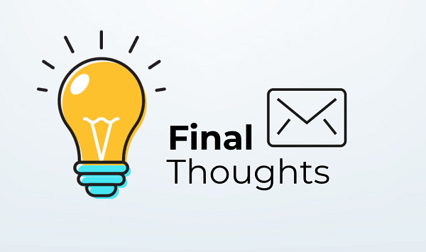 Email Final Thoughts