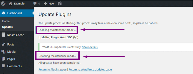 WordPress Maintenance Mode Fix