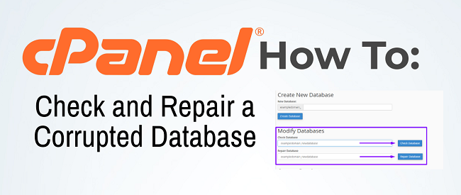 cPanel: How to Check and Repair Corrupted Database
