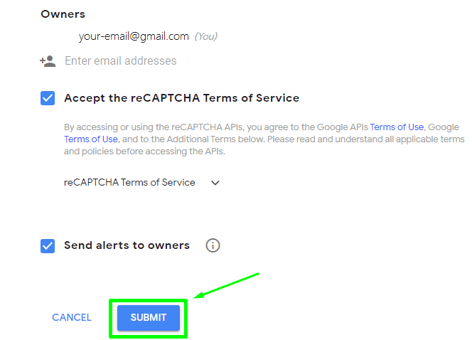 register wordpress with google reCAPTCHA