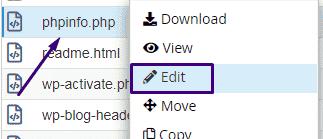 how to make a phpinfo file