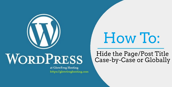 How to Hide the Page or Post Title in WordPress